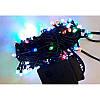 Гирлянда кристалл 100 LED 9м разноцветная на черном проводе, фото 2