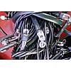 Гирлянда кристалл 100 LED 9м разноцветная на черном проводе, фото 3