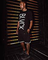 Футболка мужская с вертикальным принтом BLVCK LIMIT черная