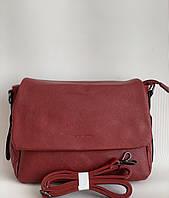 Бордовая сумка женская через плечо Pretty Woman кожзам Одесса 7 км, фото 1