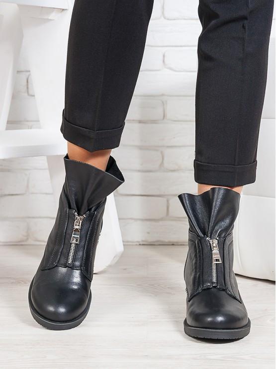 Ботинки Oliver черная кожа