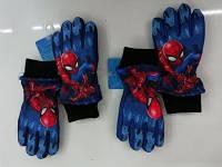 Перчатки лыжные  зимние для мальчиков Spider-man 3-8 лет