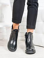 Ботинки Combo черная кожа, фото 1