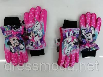 Перчатки лыжные для девочек Minnie 3-8 лет