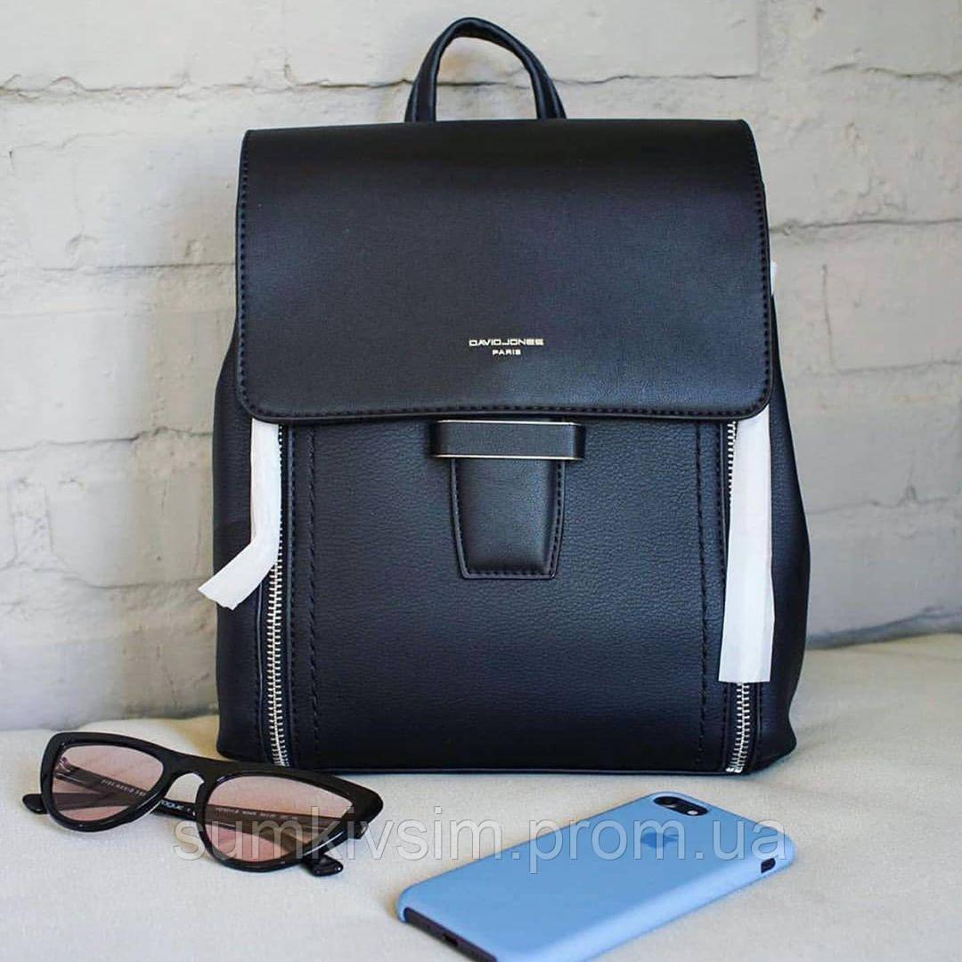 Рюкзак женский David Jones черного цвета 5494