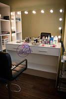 Стол для визажиста, гримерная станция, стол для макияжа с лампами, туалетный столик