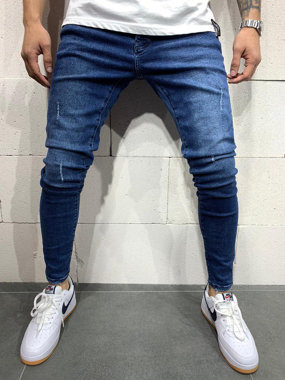 Мужские джинсы зауженные синие 2Y Premium 4816