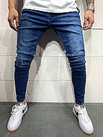 Мужские джинсы зауженные синие 2Y Premium 4816, фото 1