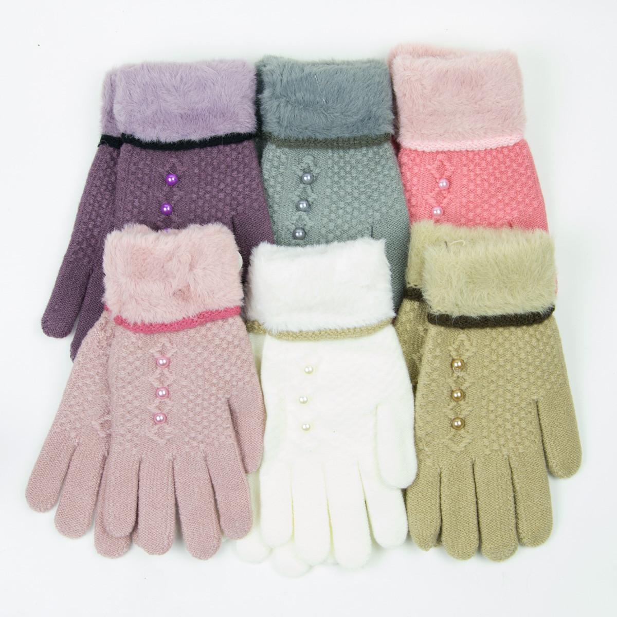 Оптом перчатки для девочек от 14 лет - 19-7-77