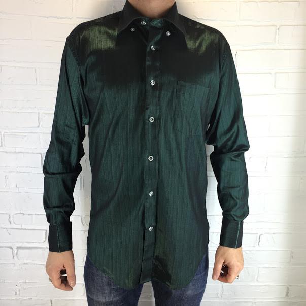 Рубашка мужская изумрудная ОПТ