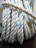 Канат поліпропіленовий. Плетений. Ø 10мм. Довжина 50м, фото 2