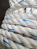 Канат поліпропіленовий. Плетений. Ø 10мм. Довжина 50м, фото 4