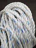 Канат поліпропіленовий. Плетений. Ø 10мм. Довжина 50м, фото 5