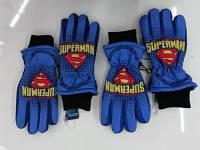 Перчатки лыжные для мальчиков Super man 7-12 лет