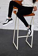 Черно-белые кожаные кроссовки VIFEST, фото 5