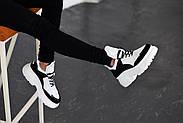 Черно-белые кожаные кроссовки VIFEST, фото 7