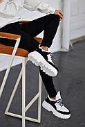 Черно-белые кожаные кроссовки VIFEST, фото 4