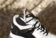 Черно-белые кожаные кроссовки VIFEST, фото 8