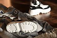Черно-белые кожаные кроссовки VIFEST, фото 9