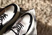 Черно-белые кожаные кроссовки VIFEST, фото 10