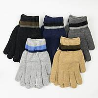 Оптом подростковые зимние перчатки для мальчиков 12-16 лет - 19-7-78, фото 1