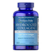 Puritan's Pride Hydrolyzed Collagen 1000 mg 180 caplets, фото 1