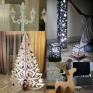 Новогодний декор, декорации, светильники, камины и Любые декорации на заказ