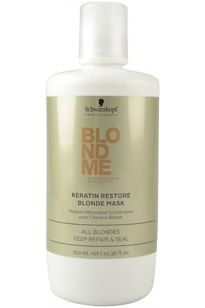 """Маска """"Кератиновое восстановление"""" Schwarzkopf BlondMe Keratin Restore Blonde Mask 750 мл"""