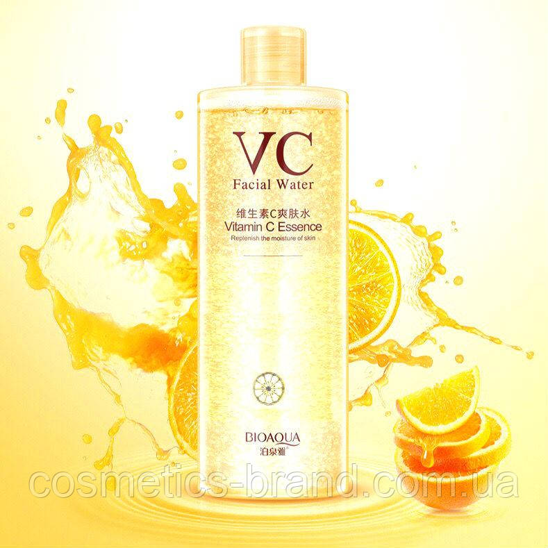 Тонер с витамином С для сияния кожи Bioaqua VC Moisturizing, 500 мл