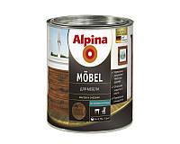 Лак алкидный ALPINA MOBEL универсальный, полумат, 0,75л