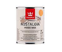 Масло-воск интерьерное TIKKURILA NOSTALGIA WOOD WAX для стен и мебели цвета мед 1л