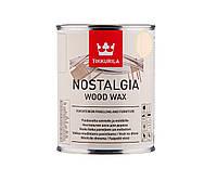 Масло-воск интерьерное TIKKURILA NOSTALGIA WOOD WAX для стен и мебели цвета кокос 1л