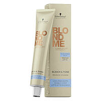 Крем-краска осветляющая и тонирующая Schwarzkopf Blondme Bleach & Tone Cool Toner Cream