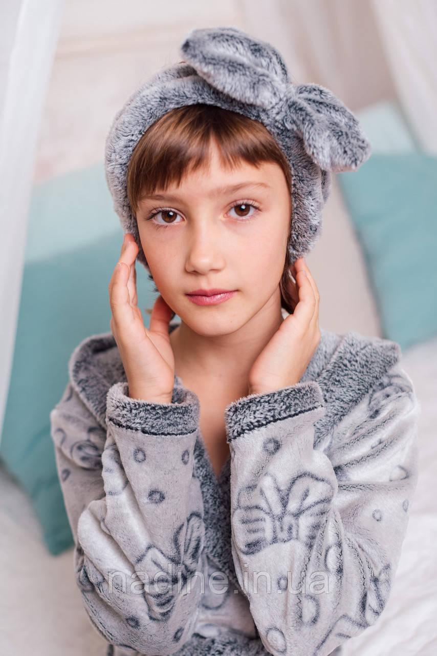 Халатик на девочку Eirena Nadine (28-529) рост 128 Silver