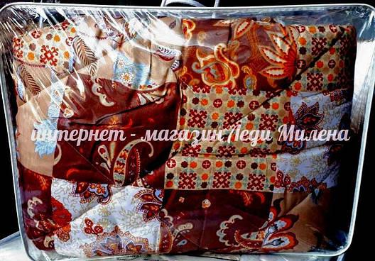 Зимнее одеяло на овчине двухспальное фабричное оптом и в розницу, фото 2