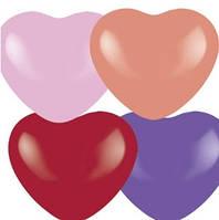 10 дюймов/25 см Сердце Декоратор ассорти 4-х цветное 100 шт/уп