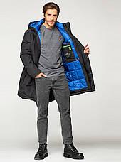 Удлиненная мужская зимняя куртка VIVACANA чёрная, фото 2