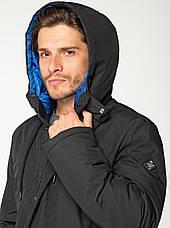 Удлиненная мужская зимняя куртка VIVACANA чёрная, фото 3