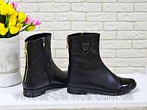 Сапоги женские Gino Figini Б-107-02 из натуральной кожи 37 Черный, фото 2