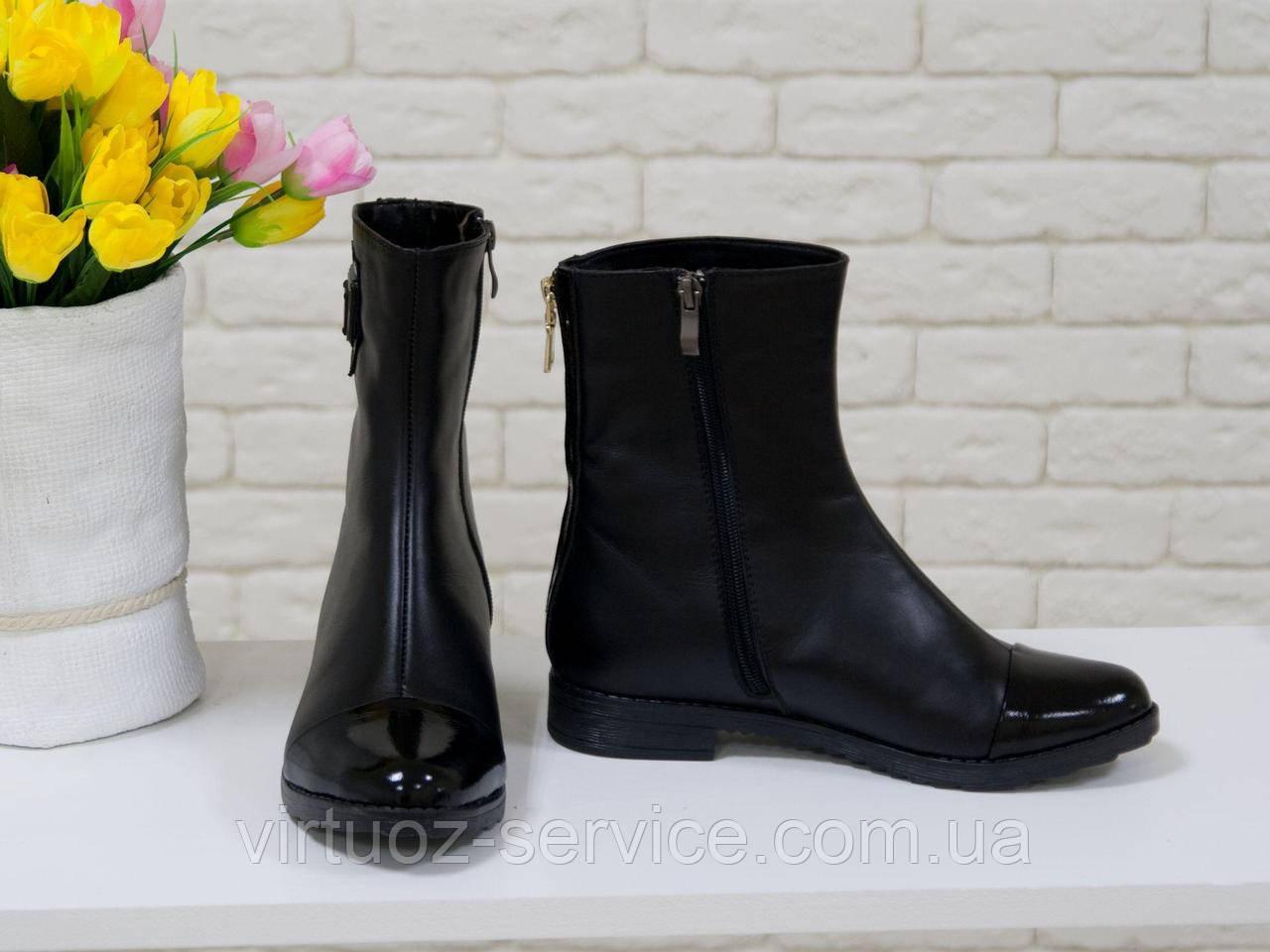 Сапоги женские Gino Figini Б-107-02 из натуральной кожи 37 Черный