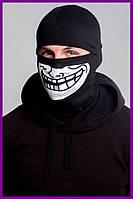 Балаклава FDR Trollface Black | Бафф, маска | Хэллоуин