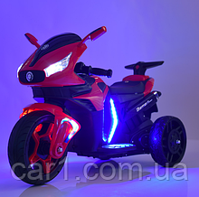 Детский мотоцикл М 3965 EL красный, белый, черный, голубой