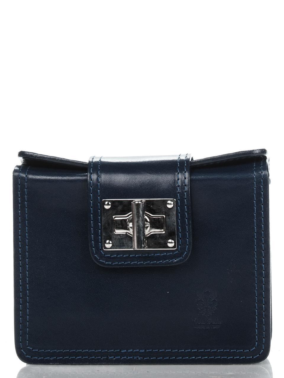 Diva's Bag Женская кожаная сумка EMILY  цвет темно-синий