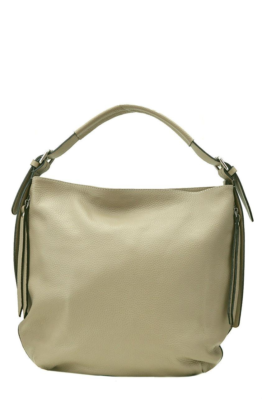 Кожаная женская сумка ELVIRA Diva's Bag цвет светло-коричневый