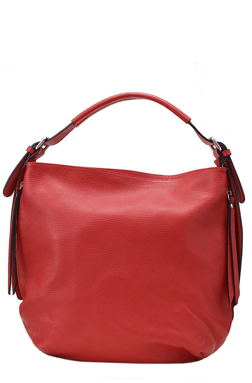 Кожаная женская сумка ELVIRA Diva's Bag цвет красный