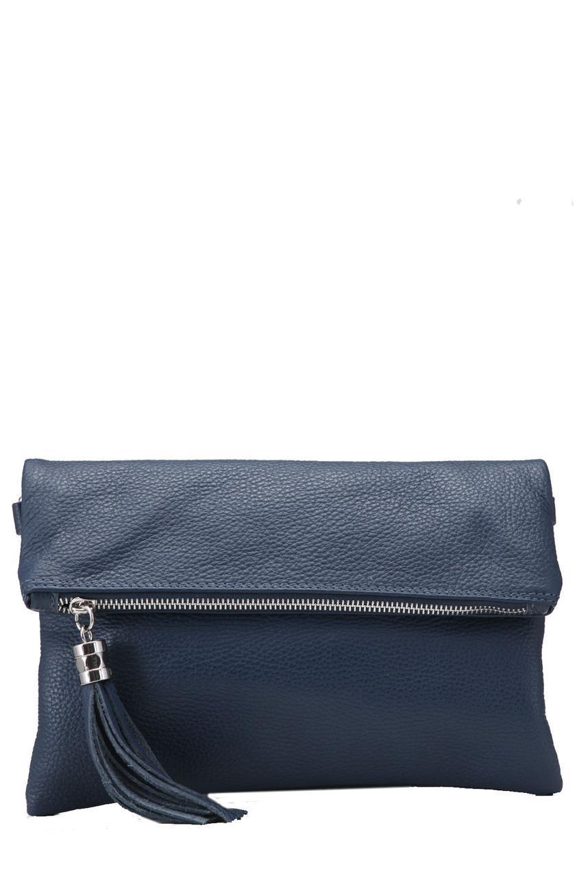 Кожаная женская сумка ELSBE Diva's Bag цвет темно-синий