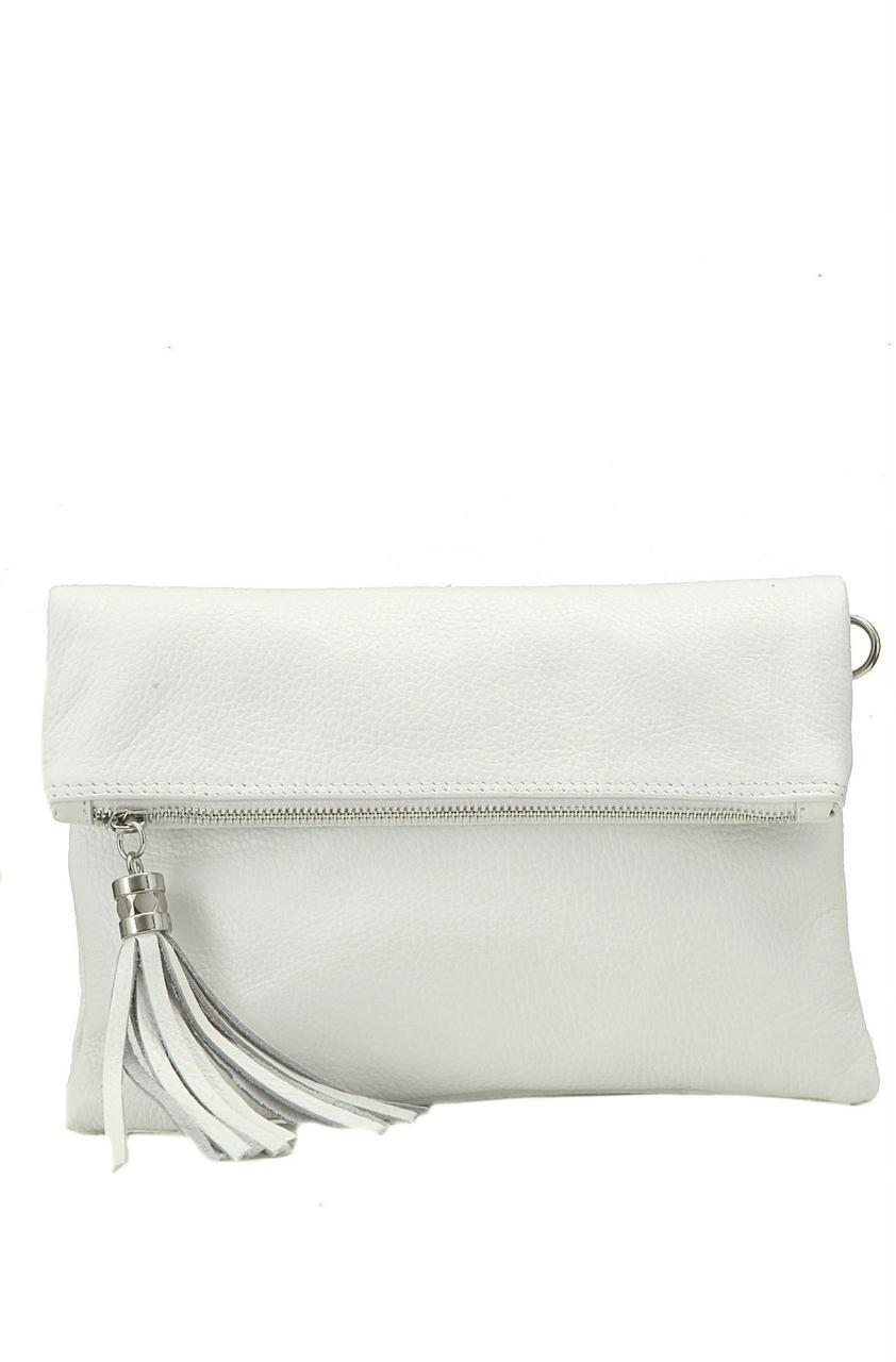 Кожаная женская сумка ELSBE Diva's Bag цвет белый