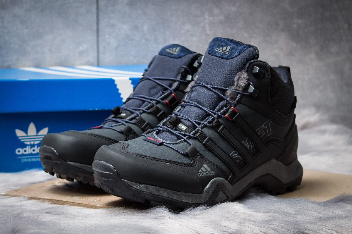 Зимние мужские ботинки 30513, Adidas Terrex Gore Tex, темно-синие ( нет в наличии  )