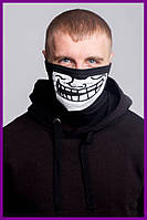 Бафф FDR Trollface Black | Балаклава, маска | Хэллоуин
