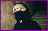 Маска на лицо Пушка Огонь Classic черная | Балаклава, маска | Хэллоуин